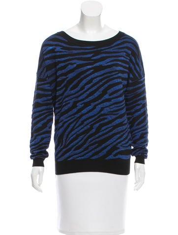 Diane von Furstenberg Patterned Wool-Blend Top None