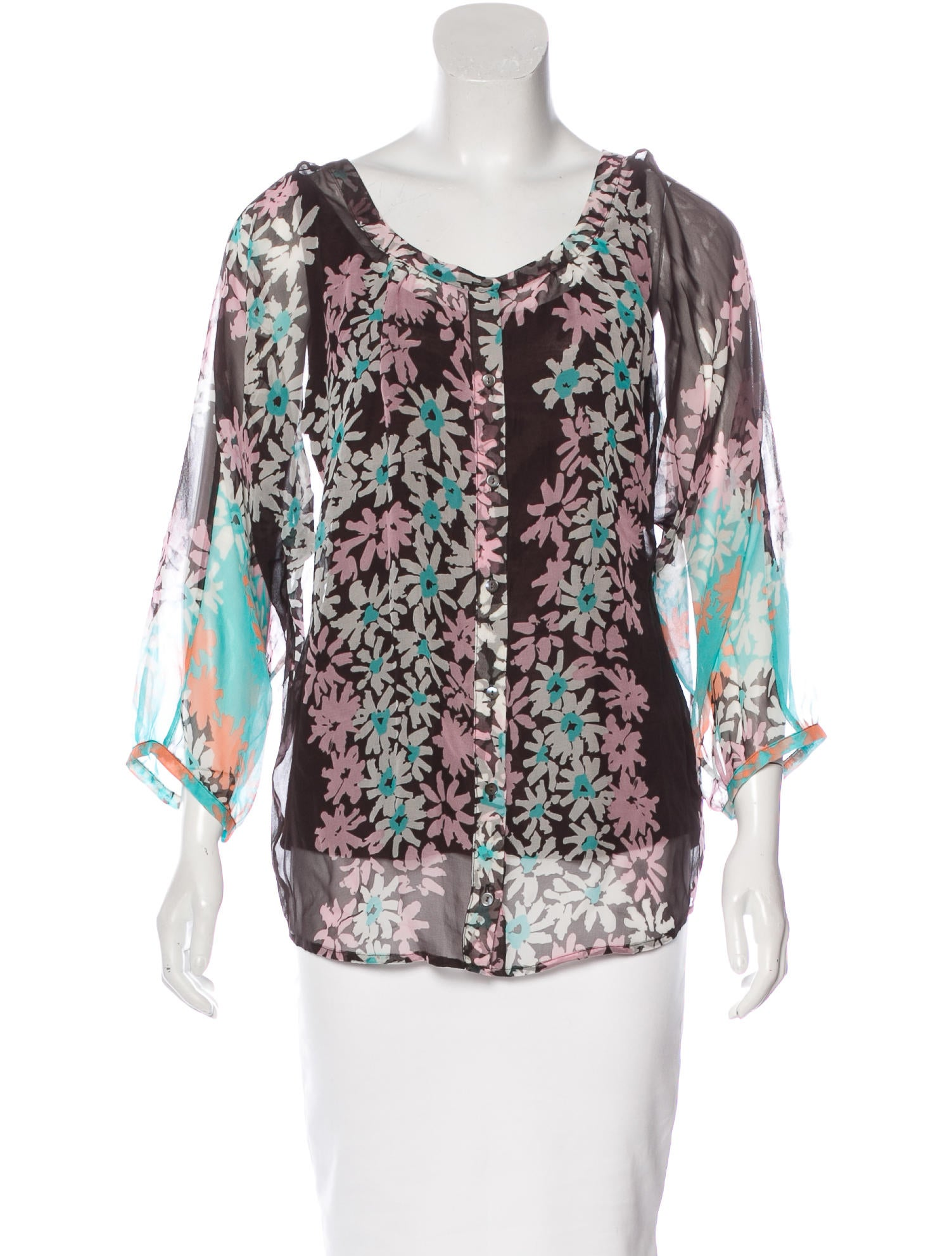 Diane Von Furstenberg Aiden Silk Blouse Clothing