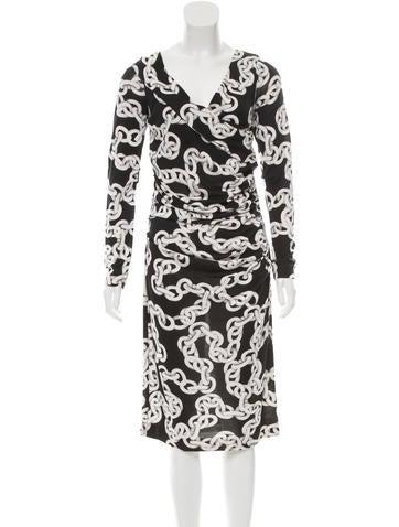 Diane von Furstenberg Printed Silk Dress None