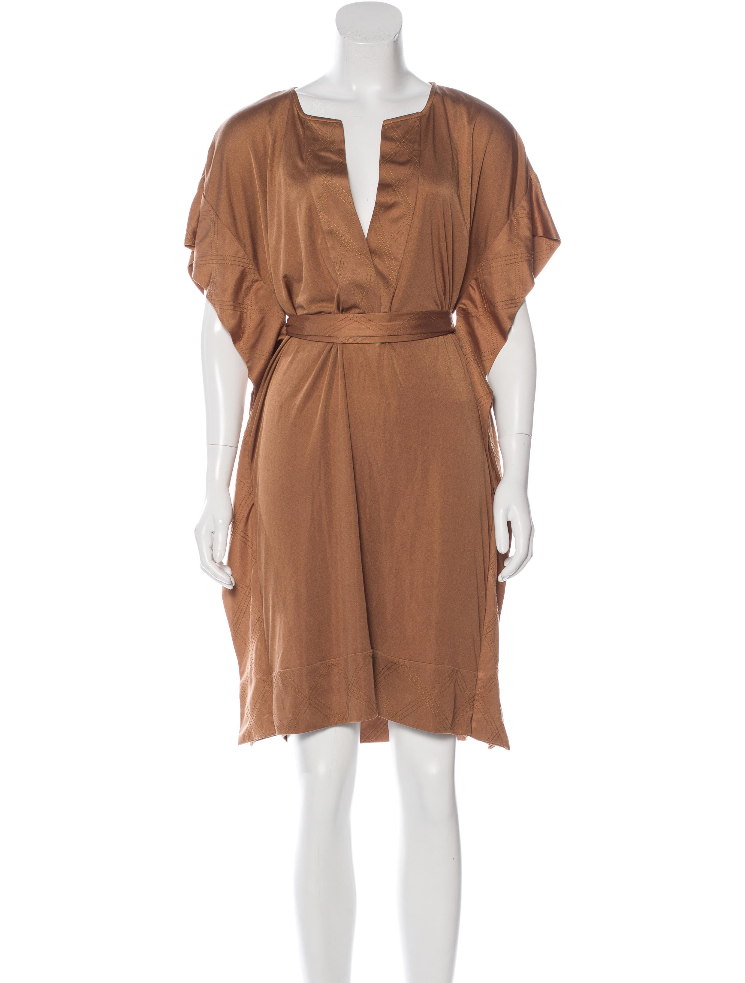 Diane von furstenberg silk belted dress clothing for Diane von furstenberg shirt