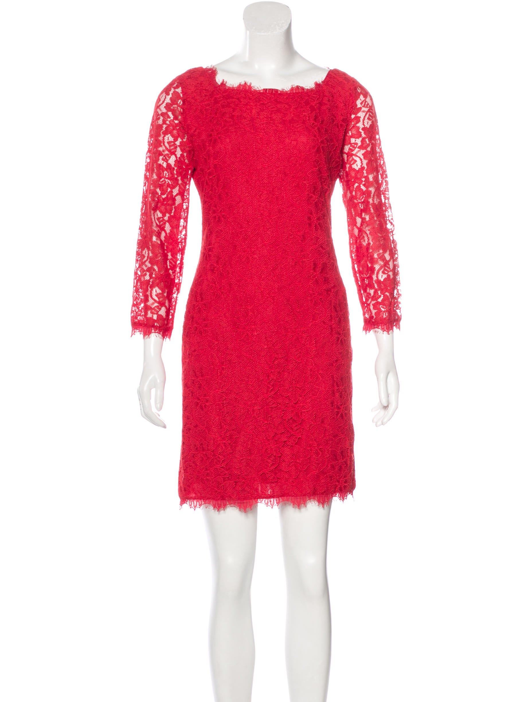 Diane Von Furstenberg Zarita Lace Dress Clothing