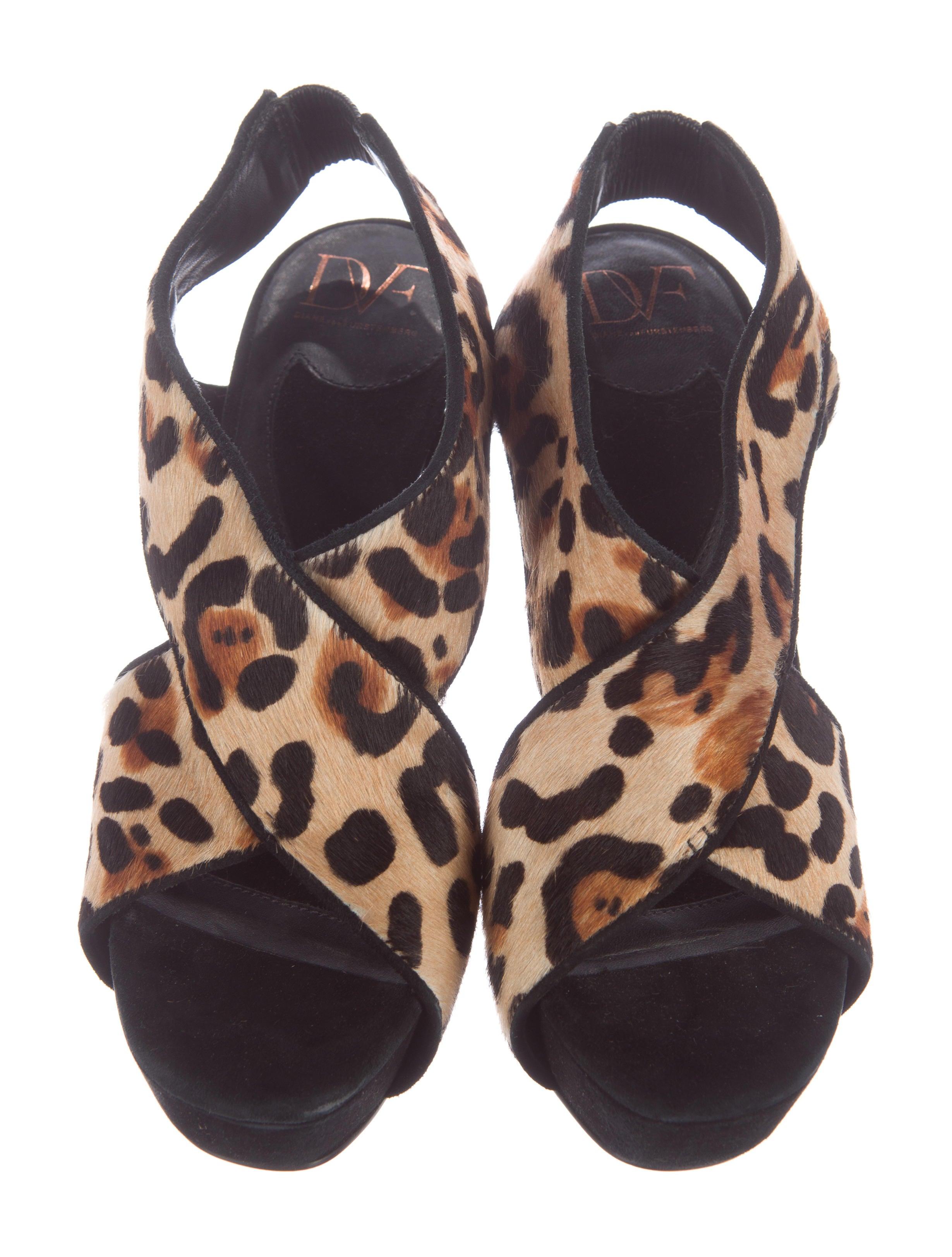 diane furstenberg leopard print platform sandals