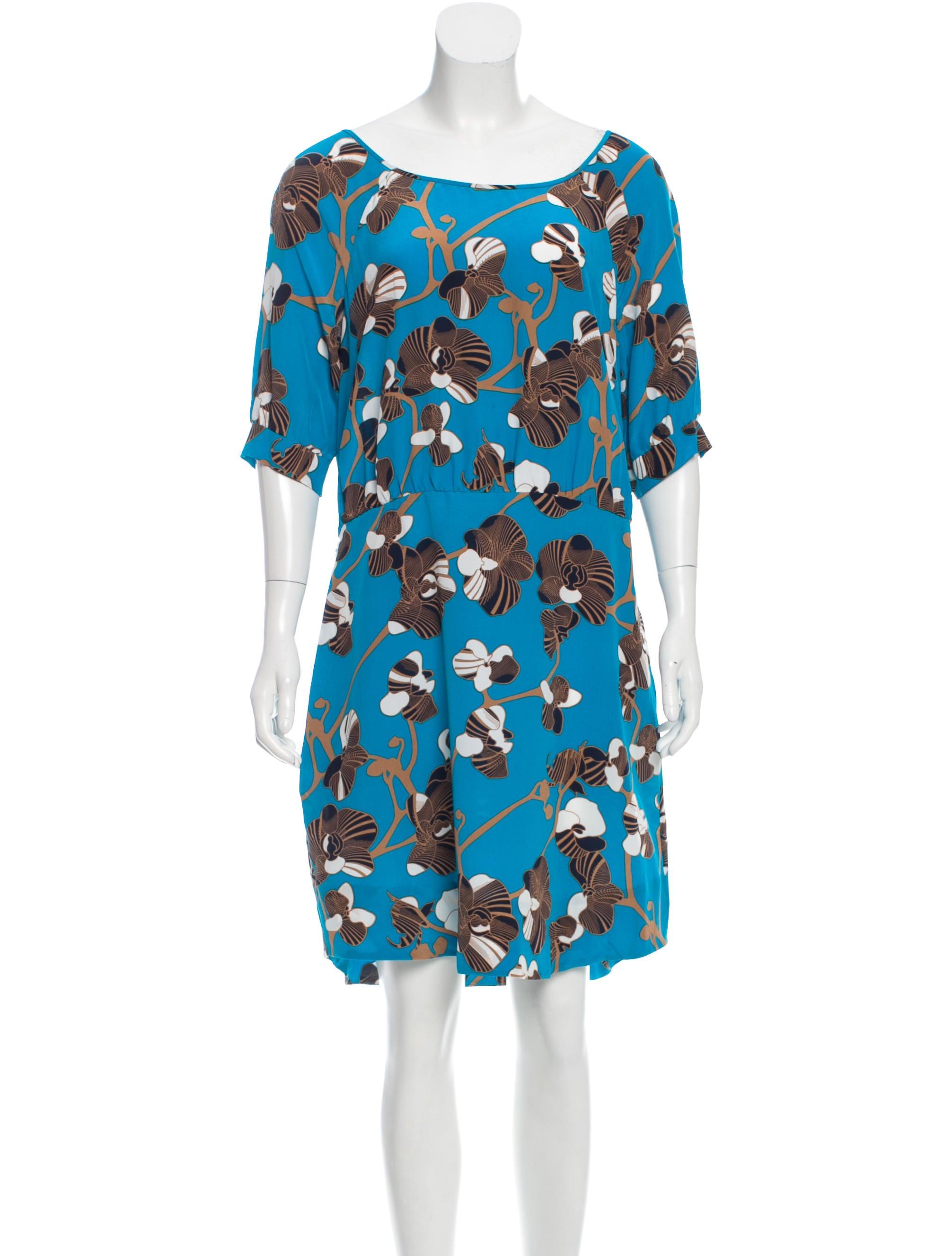 Diane von furstenberg florence silk dress clothing for Diane von furstenberg shirt