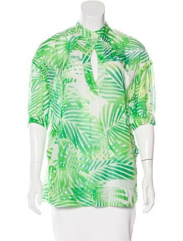 Diane von Furstenberg Printed Short Sleeve Top None