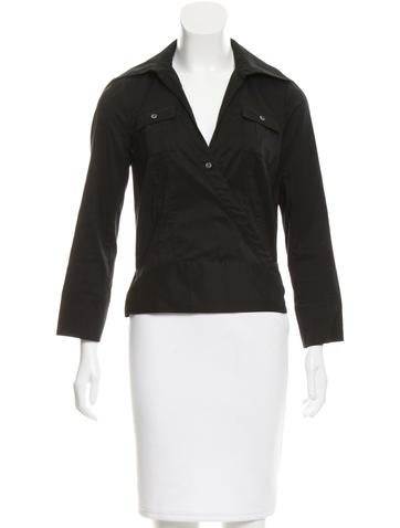 Diane von Furstenberg Long Sleeve Wrap Top None