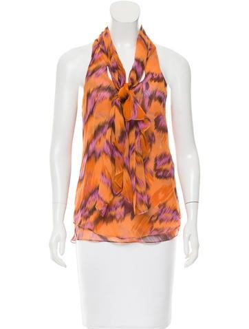 Diane von Furstenberg Marroca Silk Top None