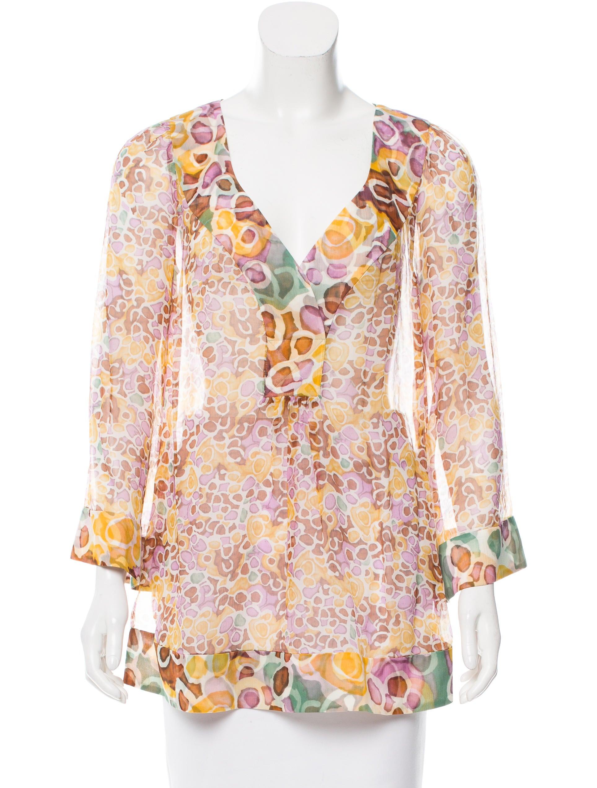 Diane von furstenberg silk printed blouse clothing for Diane von furstenberg shirt