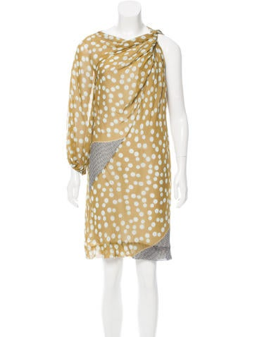 Diane von Furstenberg Silk Polka Dot Mini Dress None