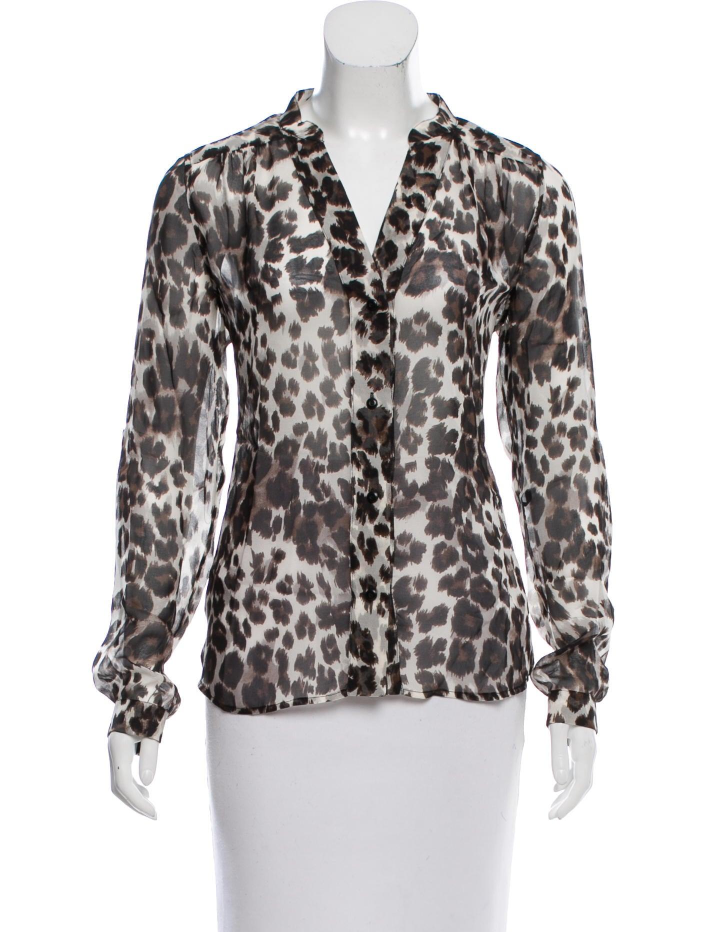 Diane von furstenberg leopard silk blouse clothing for Diane von furstenberg shirt