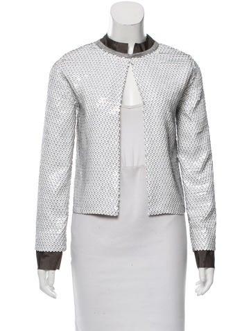 Diane von Furstenberg Hanka Sequin-Embellished Cardigan w/ Tags None
