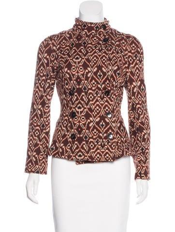 Diane von Furstenberg Wool-Blend Patterned Jacket None