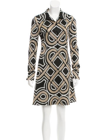 Diane von Furstenberg Patterned Knee-Length Dress None