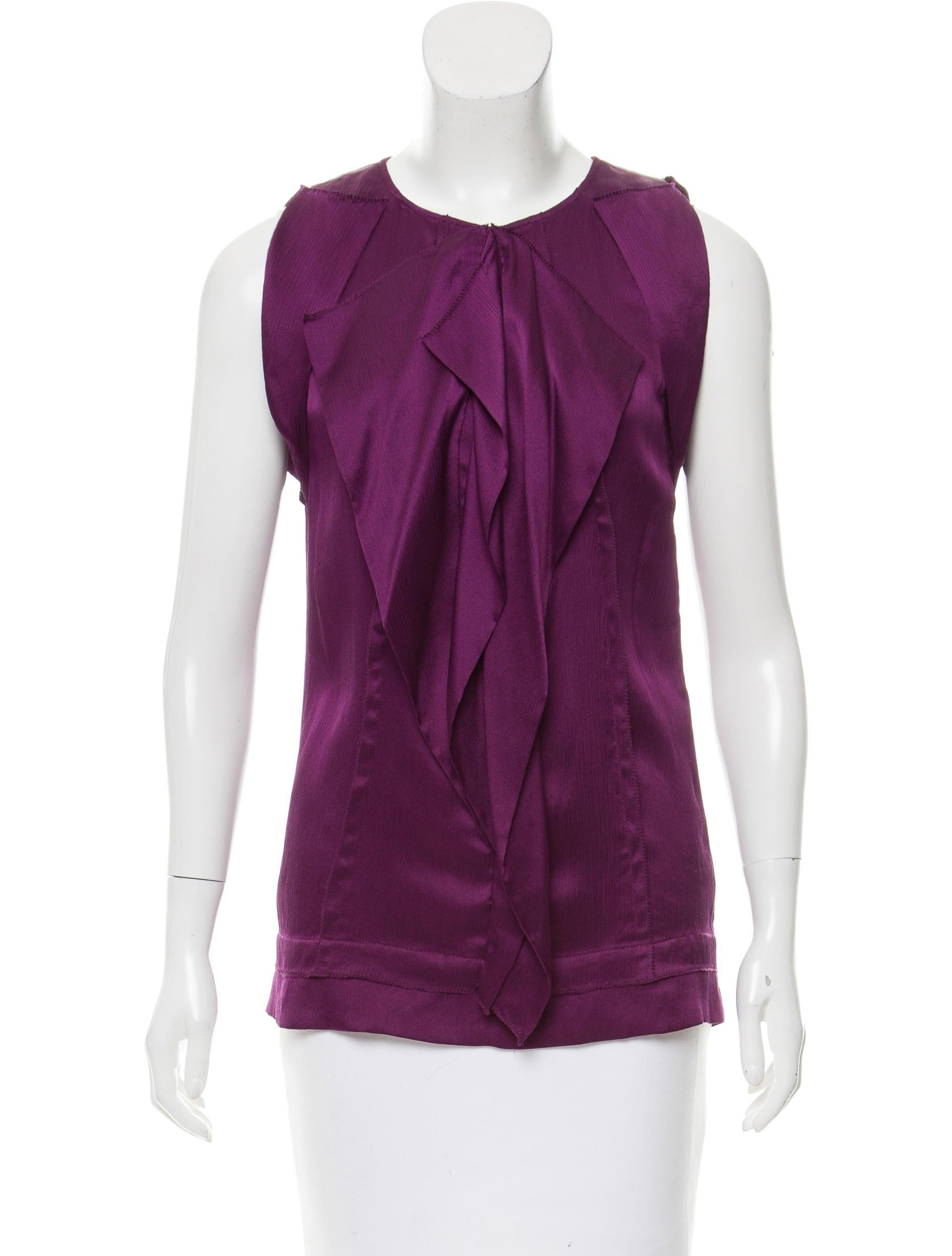 Diane von furstenberg silk sleeveless blouse clothing for Diane von furstenberg shirt