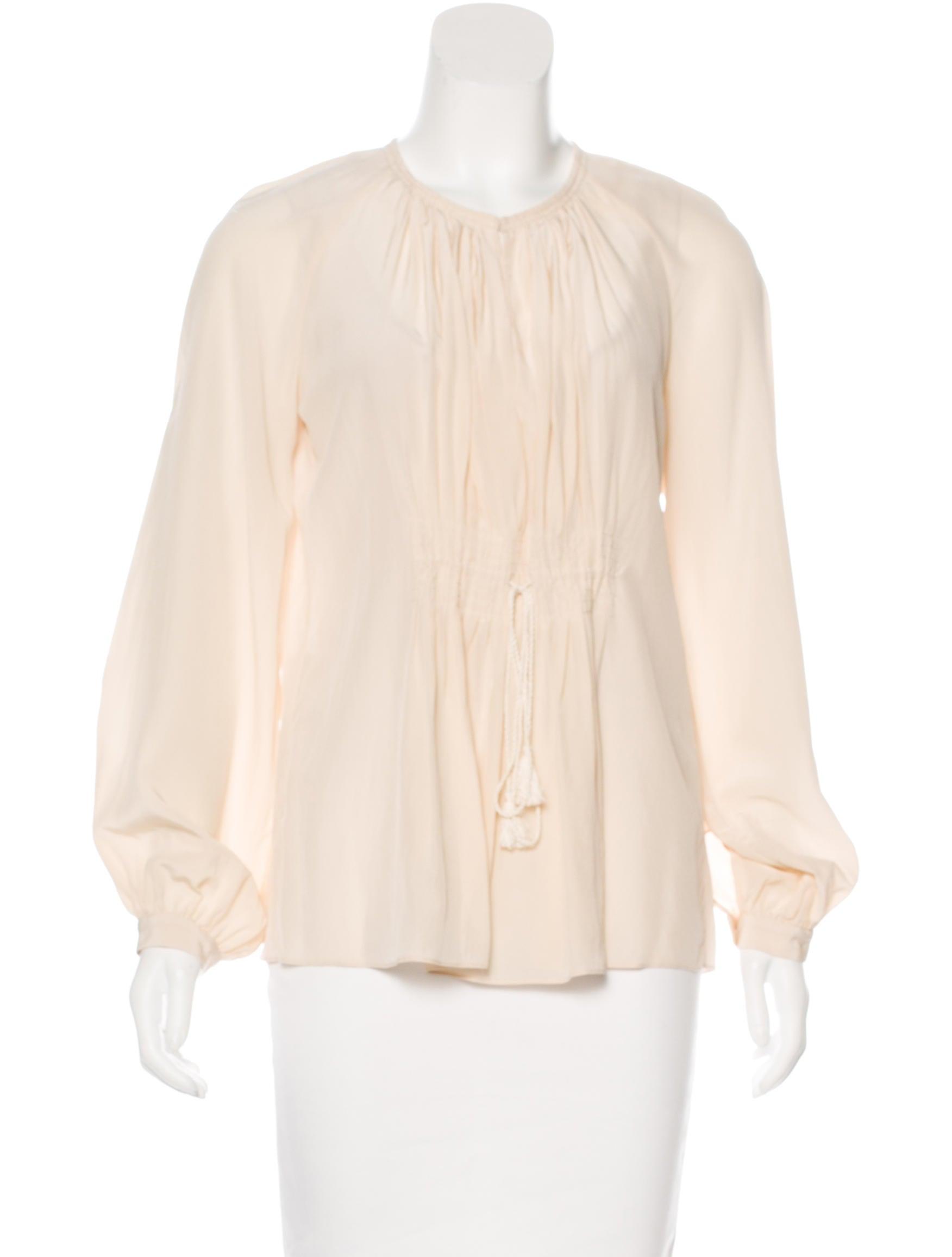Diane von furstenberg gathered silk blouse clothing for Diane von furstenberg shirt