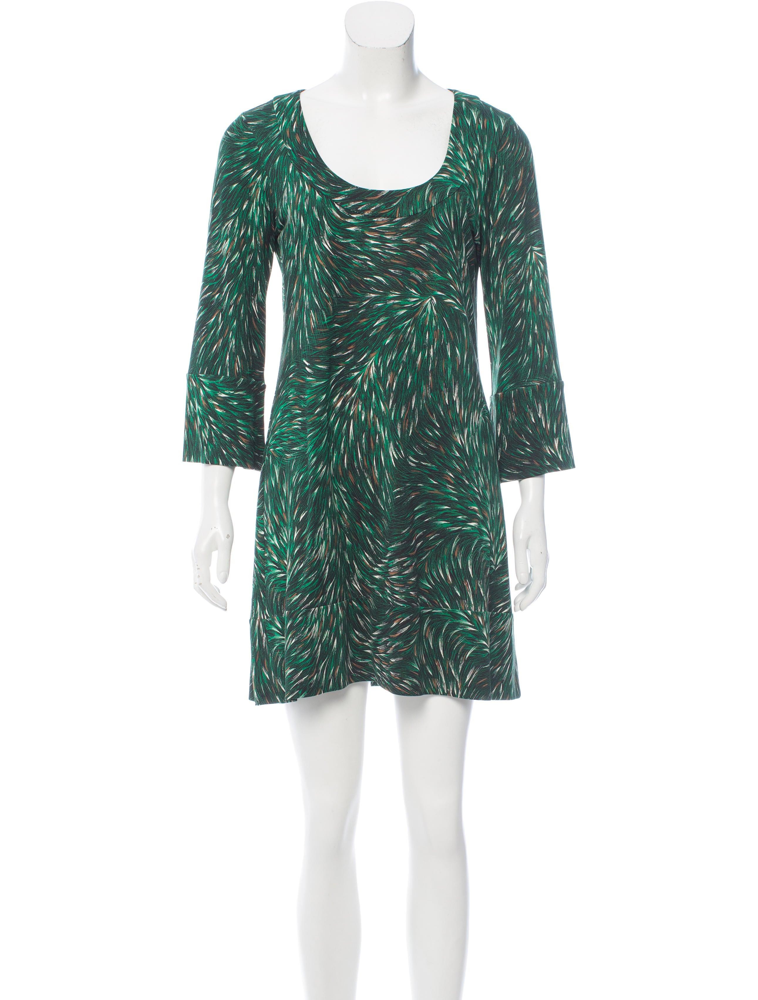 Diane von furstenberg silk mini dress clothing for Diane von furstenberg shirt