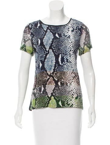 Diane von Furstenberg Silk Printed Top None