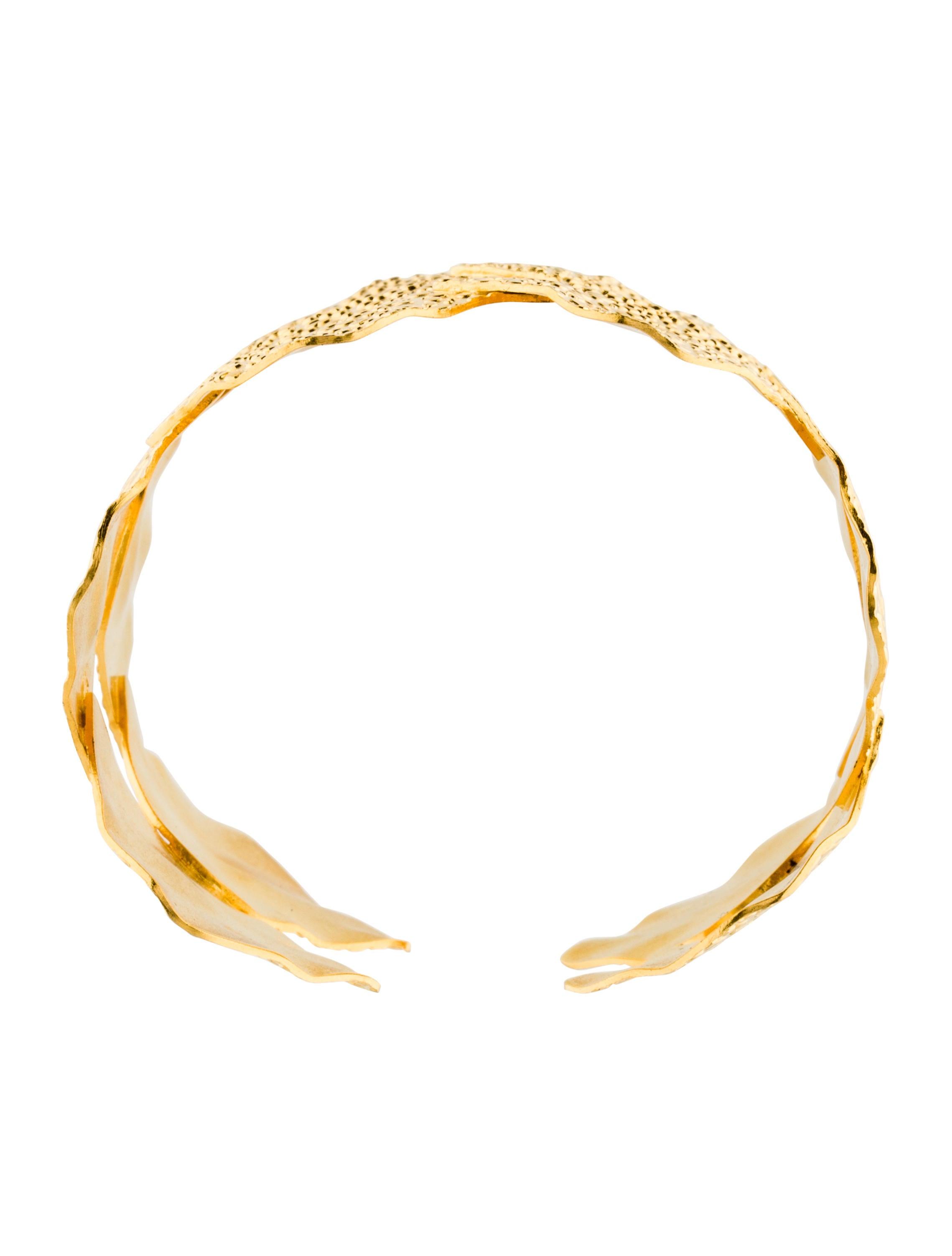 Dina Mackney Textured Petal Cuff Bracelets Wdina20025