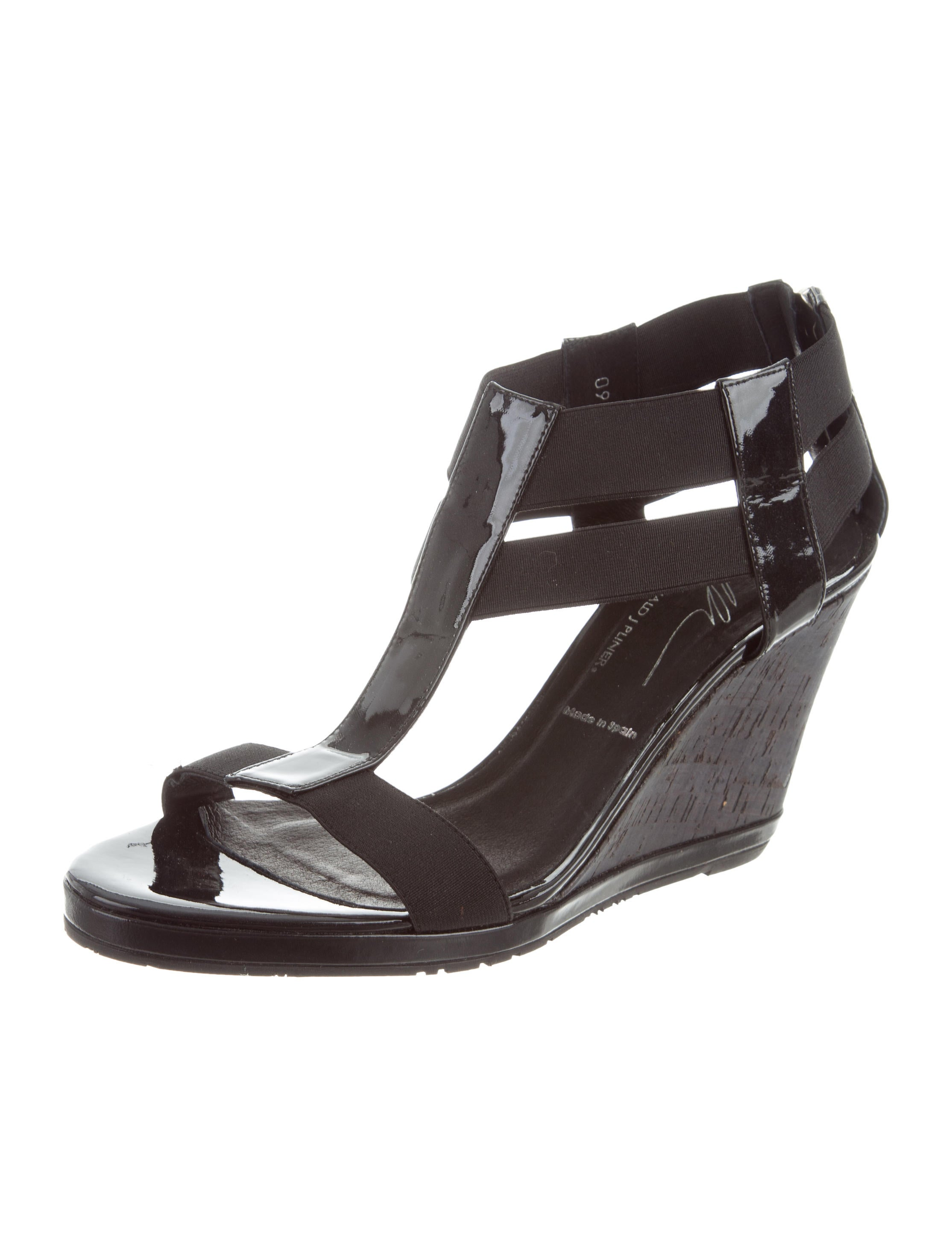 Donald J Pliner Grosgrain Patent Leather-Trimmed Wedges how much sale online yjde4bl