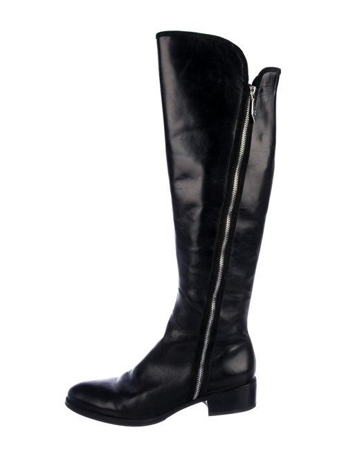 Donald J Pliner Leather Riding Boots Black