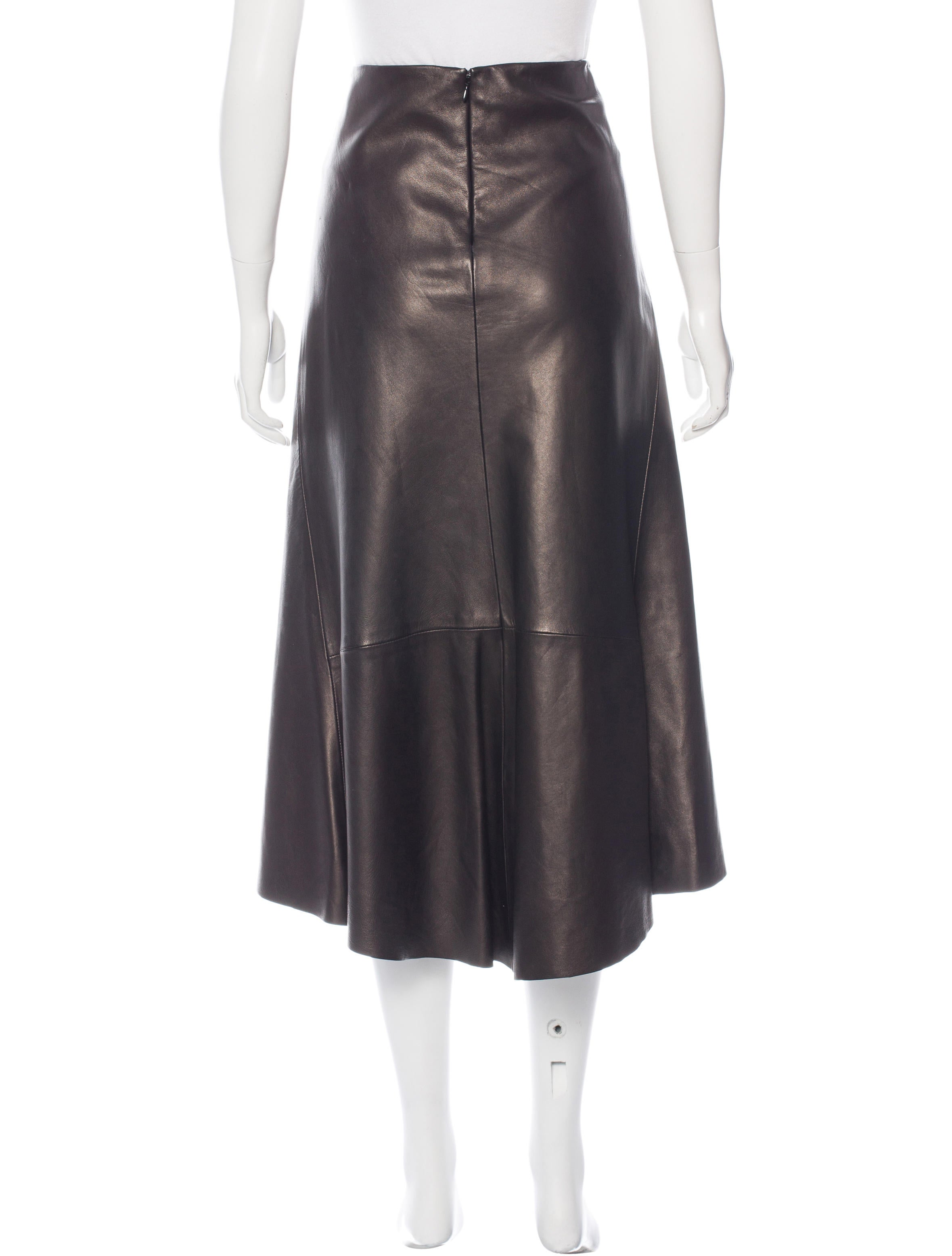 dkny leather a line skirt clothing wdk20085 the realreal