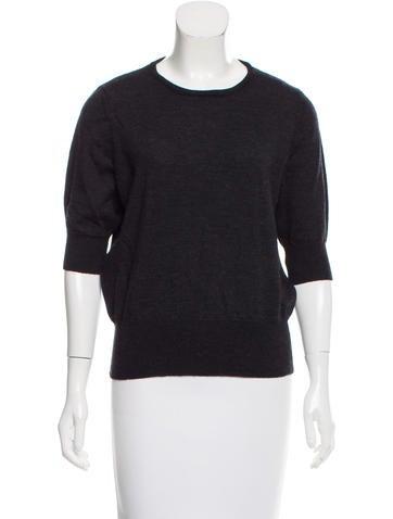DKNY Short Sleeve Wool Sweater None