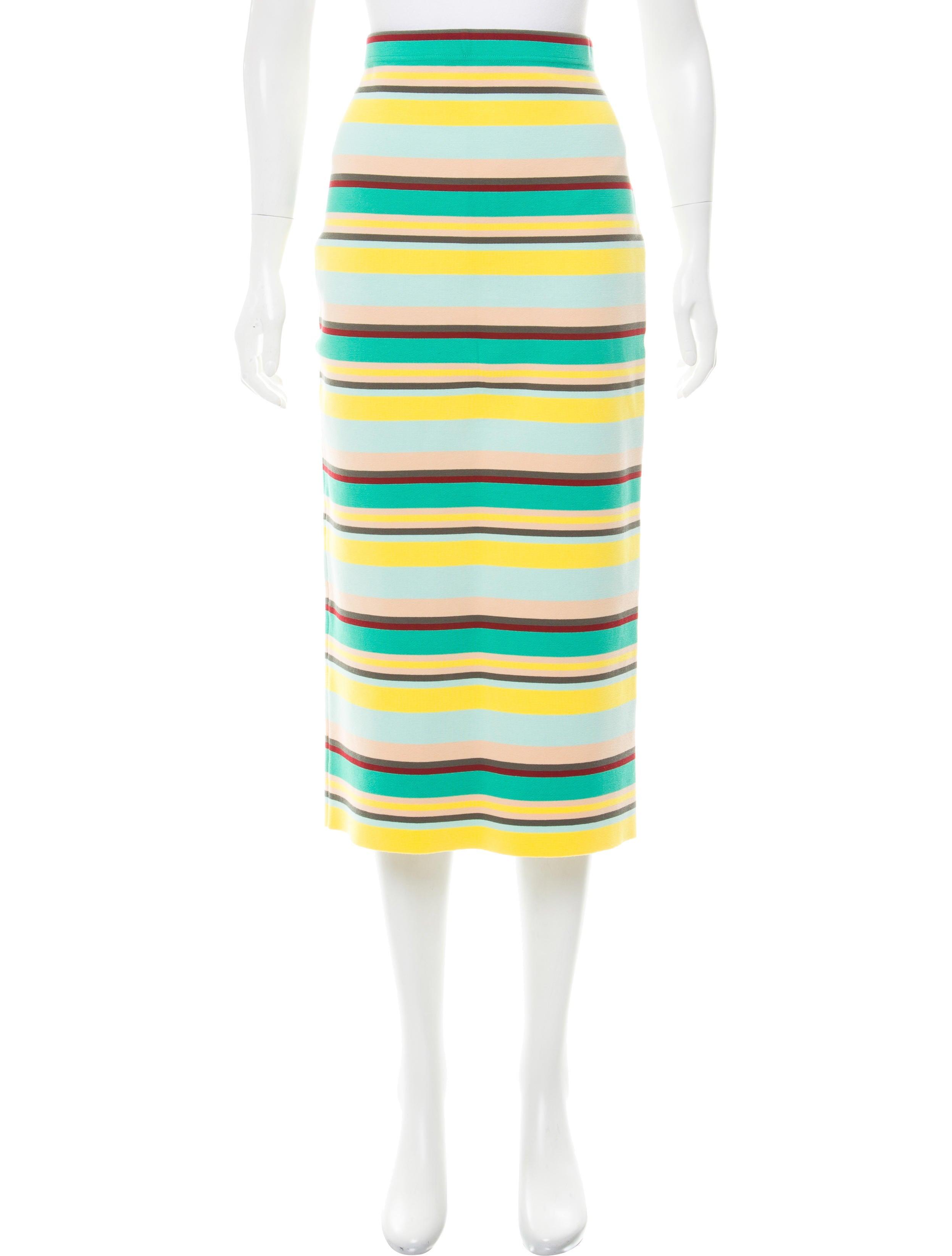dkny striped midi skirt clothing wdk20194 the realreal
