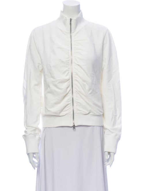 Dkny Mock Neck Long Sleeve Sweatshirt White