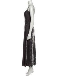 DKNY Square Neckline Long Dress