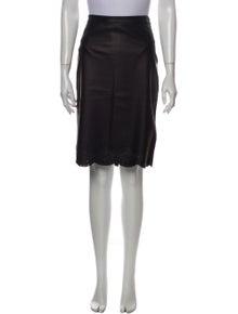 DKNY Leather Knee-Length Skirt