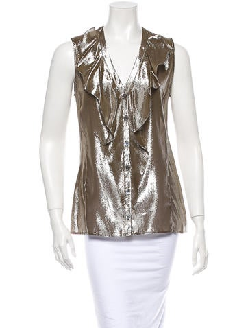 10 Crosby Derek Lam Metallic Top None