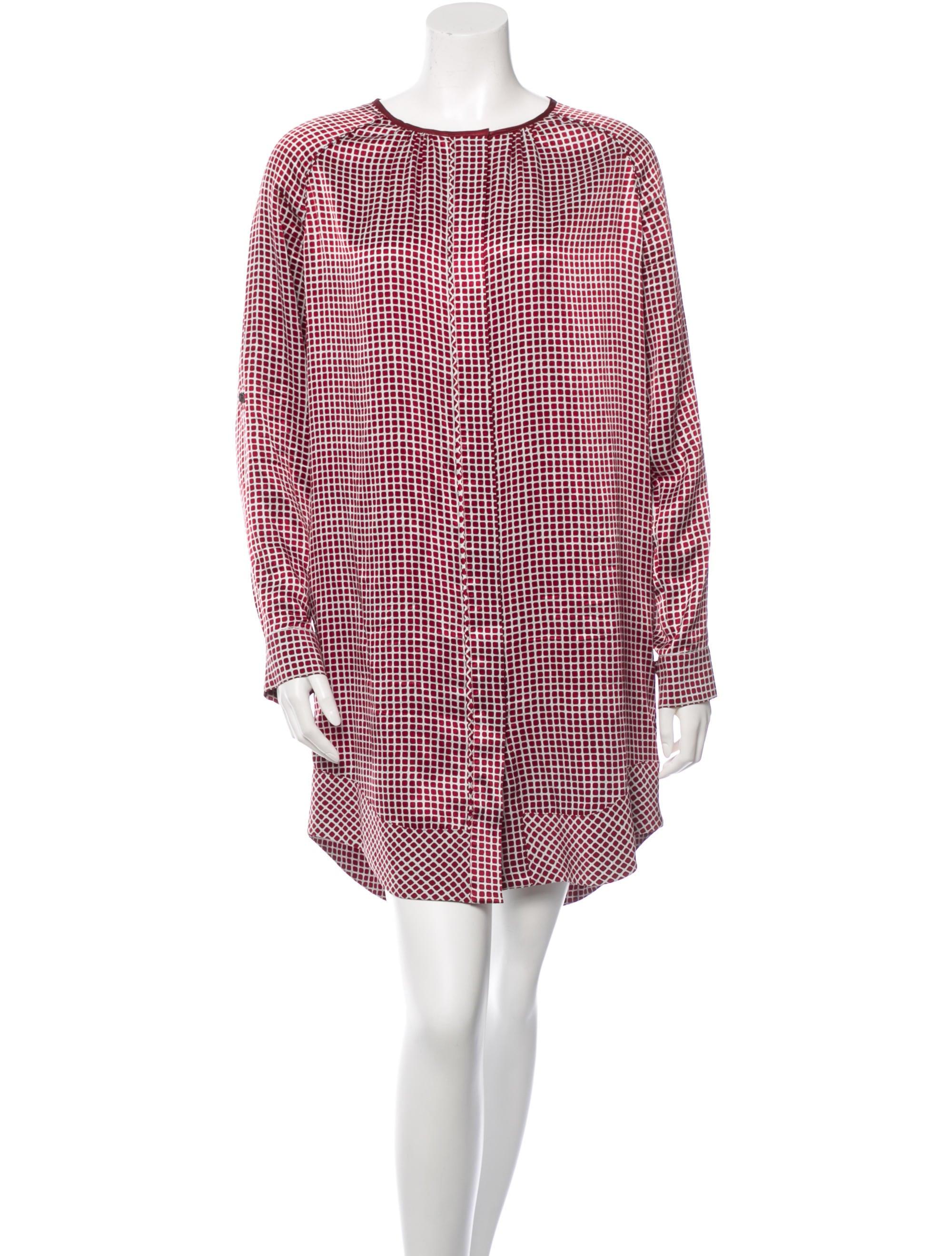 10 Crosby Derek Lam Silk Shirt Dress Clothing Wdl21749