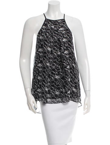 Derek Lam 10 Crosby Silk Printed Top w/ Tags None