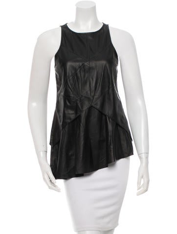 Derek Lam 10 Crosby Sleeveless Leather Top w/ Tags None