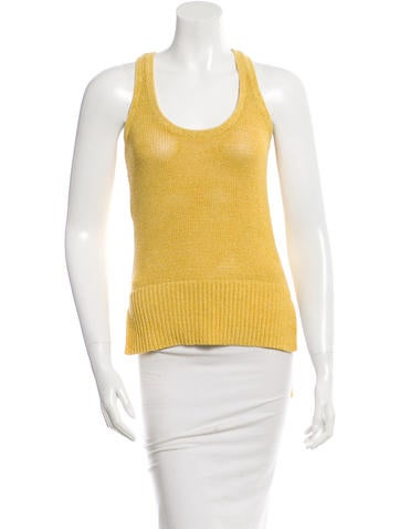 Derek Lam 10 Crosby Sleeveless Donegal Knit Top None