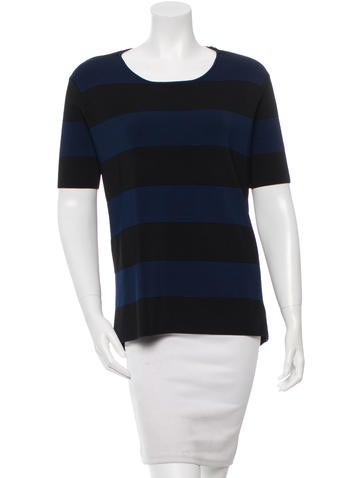 Derek Lam 10 Crosby Striped Short Sleeve Top w/ Tags