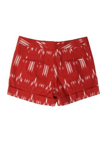 Linen-Blend Printed Shorts