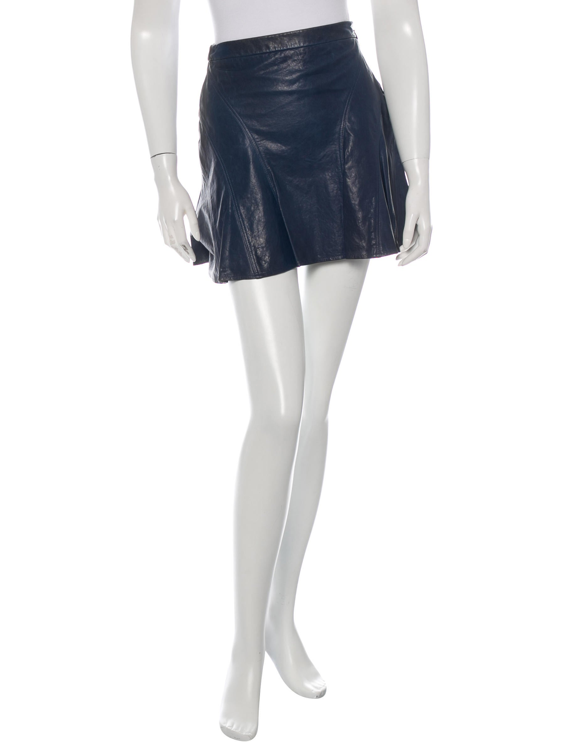 derek lam 10 crosby leather a line skirt clothing