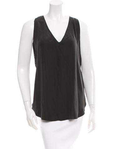 Derek Lam 10 Crosby Sleeveless Paneled Top None