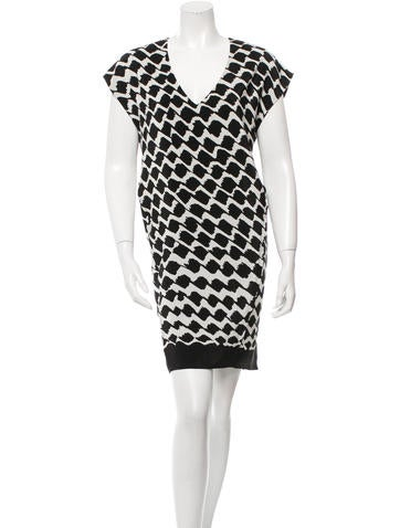 Derek Lam 10 Crosby Printed Mini Shift Dress