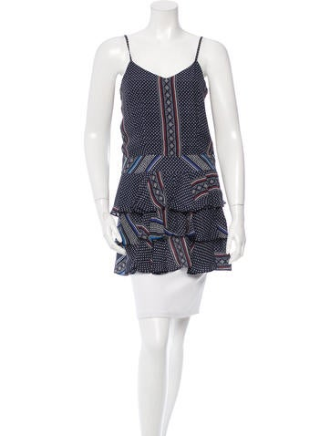 Derek Lam 10 Crosby Tribal Print Ruffled Tunic