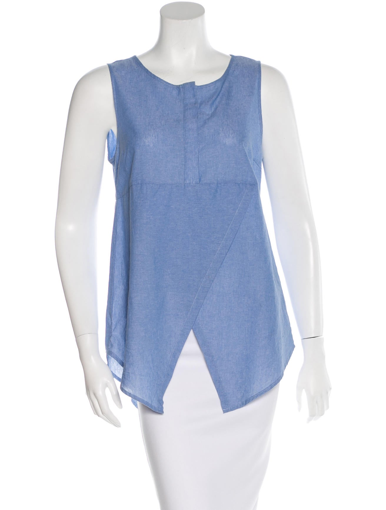 Derek lam 10 crosby chambray sleeveless top clothing for Chambray top