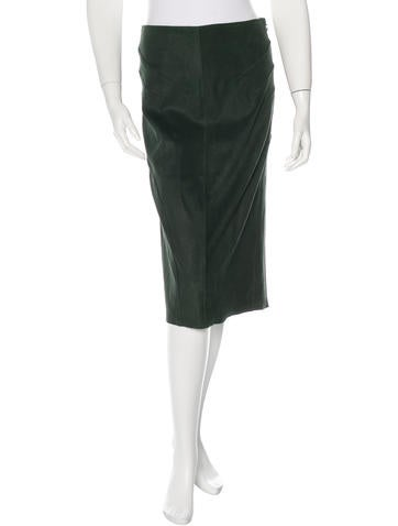 Derek Lam 10 Crosby Suede Pencil Skirt w/ Tags None