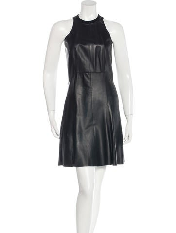 Derek Lam 10 Crosby Leather A-Line Dress w/ Tags None