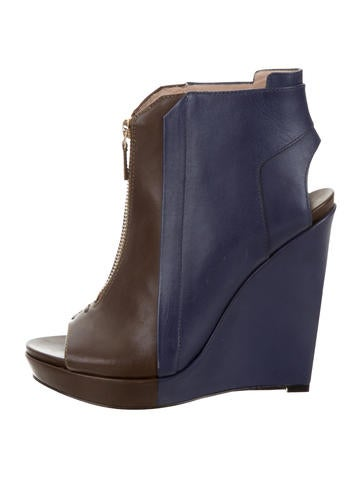 Derek Lam 10 Crosby Leather Ankle Boots None