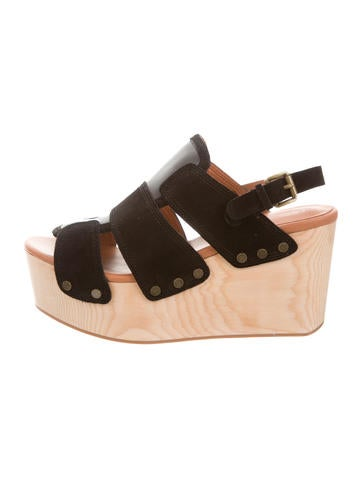 Derek Lam 10 Crosby Suede Platform Wedges w/ Tags None