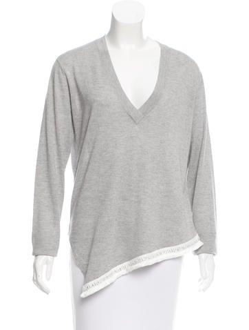 Derek Lam 10 Crosby Asymmetrical Silk Sweater None