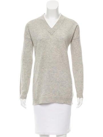 Derek Lam 10 Crosby Cashmere Rib Knit Sweater None