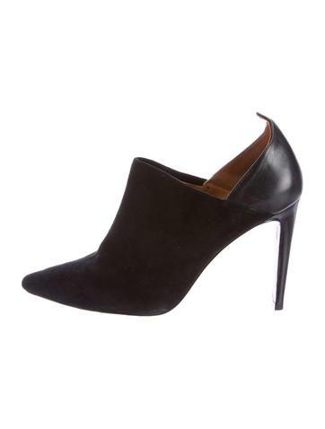 Derek Lam 10 Crosby Leather Pointed-Toe Booties None