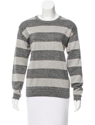 Derek Lam 10 Crosby Metallic Striped Sweater