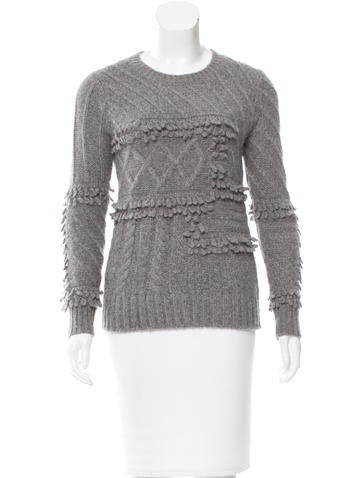 Derek Lam 10 Crosby Long Sleeve Rib Knit Sweater None